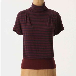 "Anthropologie ""slouched stripe pullover"""